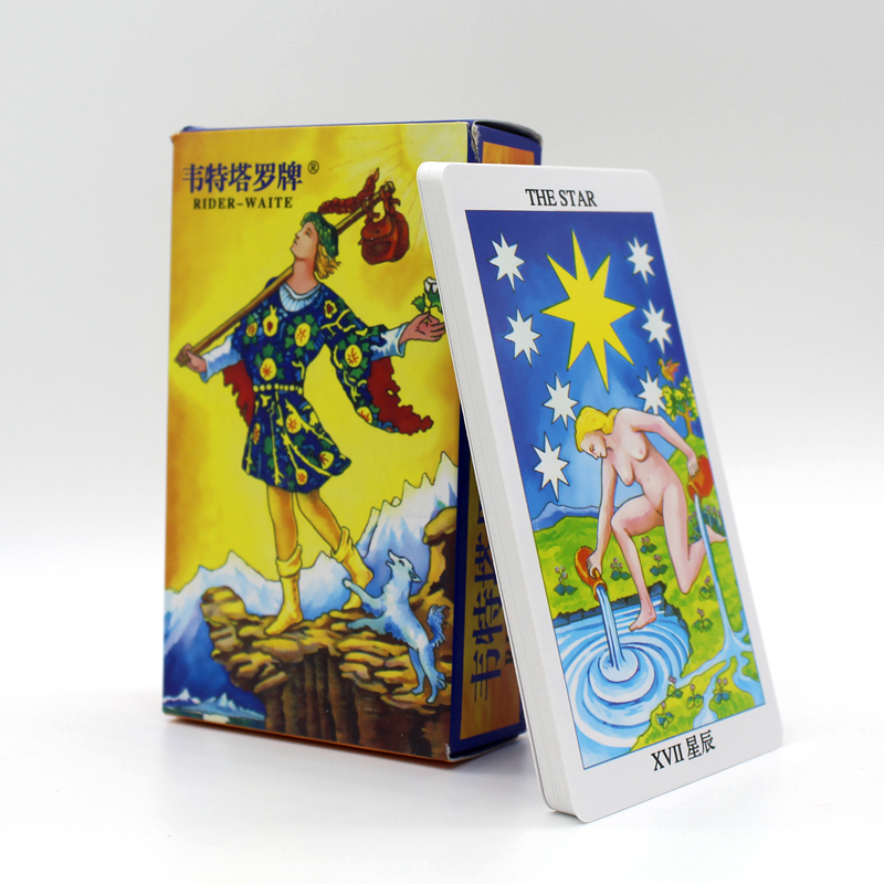 Rider Wait Tarot Cards Factory Made High Quality Tarot Card With Colorful Box, Cards Game, Board Game 78pcs,8*12cm 78pcs high quality rider waite tarot cards deck english full version for divination personal use party magic games kyy8284