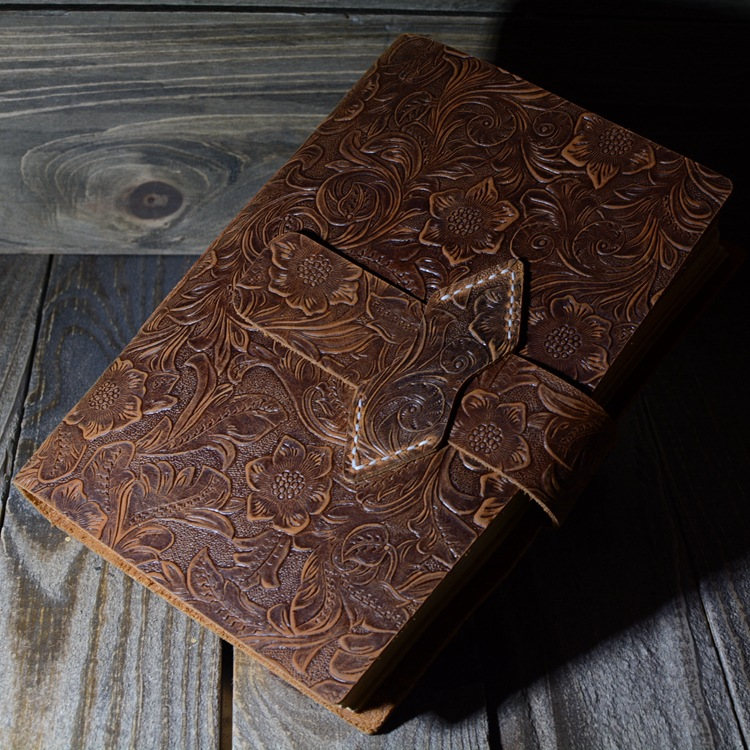 Carnet de notes carnet de notes en cuir fait main Vintage fantasaci carnet de croquis Journal de voyage papier d'écriture blanc carnet de notes cadeaux papeterie - 2