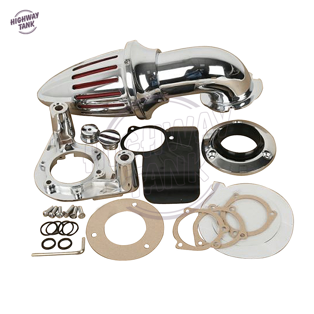 Chrome Aluminum Motorcycle Spike Air Cleaner Kit Intake Filter case for Harley Touring Glide FLTR FLHT 2008 2009 2010 2011 2012 chrome aluminum motorcycle spike air cleaner intake filter case for honda shadow vlx600 vt600cd deluxe 1999 up