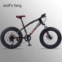 """Lobo fang bicicleta mountain bike 7/21 velocidade 2.0 """"x 4.0"""" bicicleta de estrada bicicleta gordura freio a disco mulheres e crianças"""