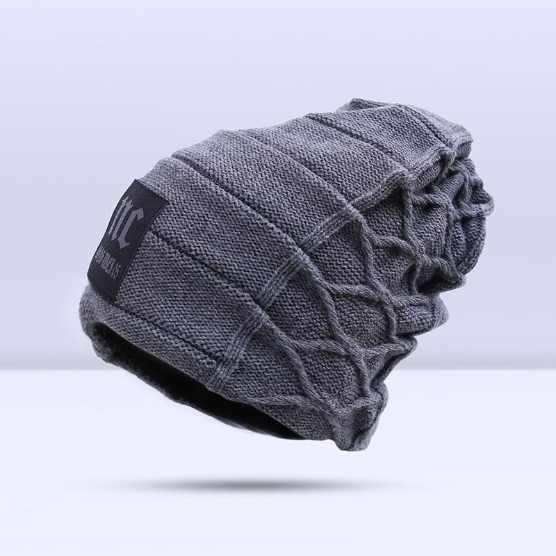 Dropwow 2018 Stylish Skullies Beanies Winter Hats Man Thick Warm ... a1d46ecc5dff