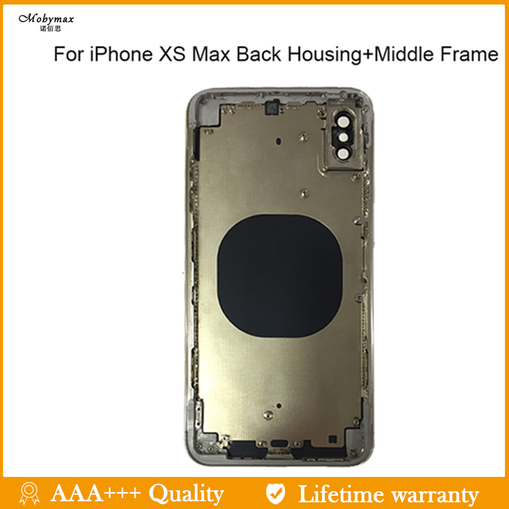 Battery-Cover Housing-Case-Assembly Chassis iPhone Middle-Frame Metal for XS Max 100%New