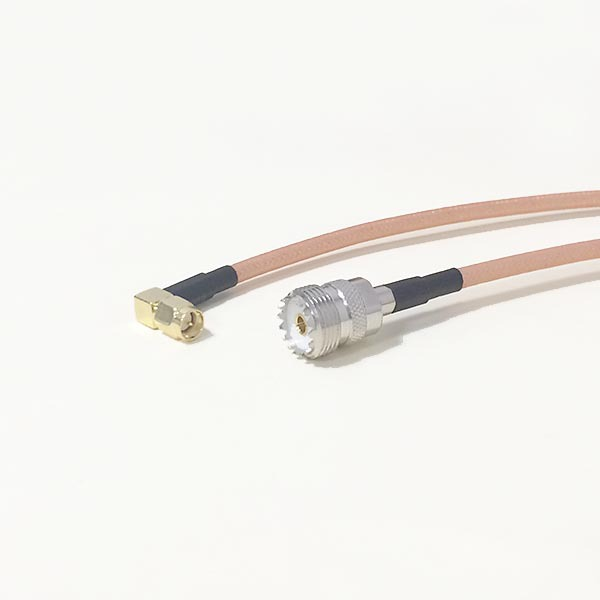 High-quality low-attenuation UHF Female Jack Connector Switch SMA Right Angle Male Plug RG142 50CM 20 Adapter high quality low attenuation rp sma female jack connector switch n male plug connector rg142 50cm 20 adapter