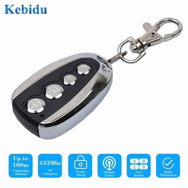 نسخة جديدة من kebidu جهاز إرسال عن بعد بتردد 433 ميجا هرتز يعمل بمدخل باب جراج جهاز إرسال كهربائي لبوابة السيارة وجها لوجه