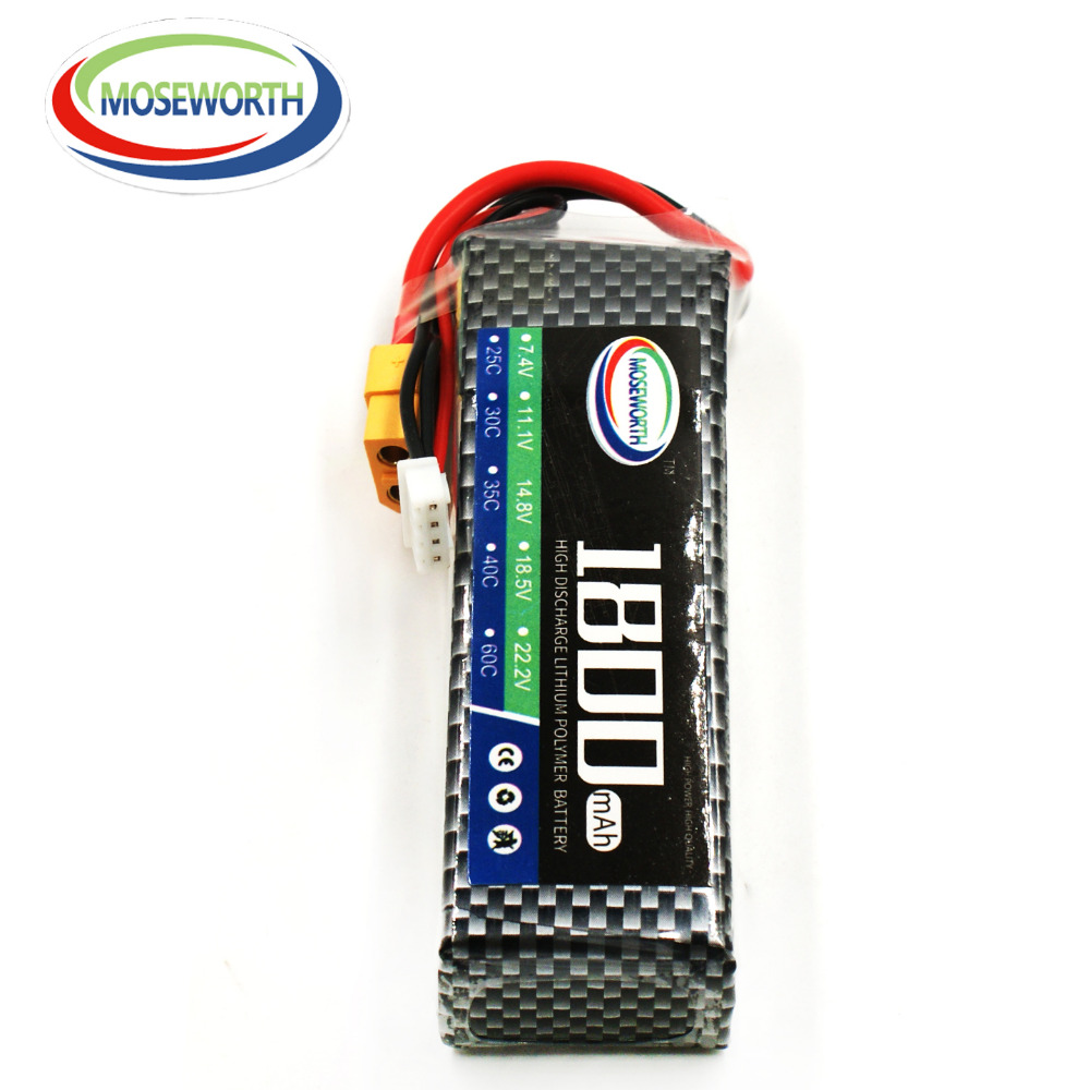 MOSEWORTH 3S 11.1V 1800mah 40-80C RC LiPo Battery for Helicopter Quadrotor Airplane T Plug 3pcs battery and european regulation charger with 1 cable 3 line for mjx b3 helicopter 7 4v 1800mah 25c aircraft parts