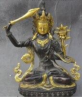 """Darmowa Wysyłka 0 9 """"tybet buddyzm Brąz Pozłacany Joss Tara Bogini Manjusri kwan yin statua buddy w Posągi i rzeźby od Dom i ogród na"""