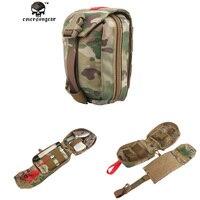 Spor ve Eğlence'ten Torbalar'de Emersongear Askeri Molle Ilk Yardım çantası Medic Kılıfı Taktik Airsoft Açık spor ekipmanı