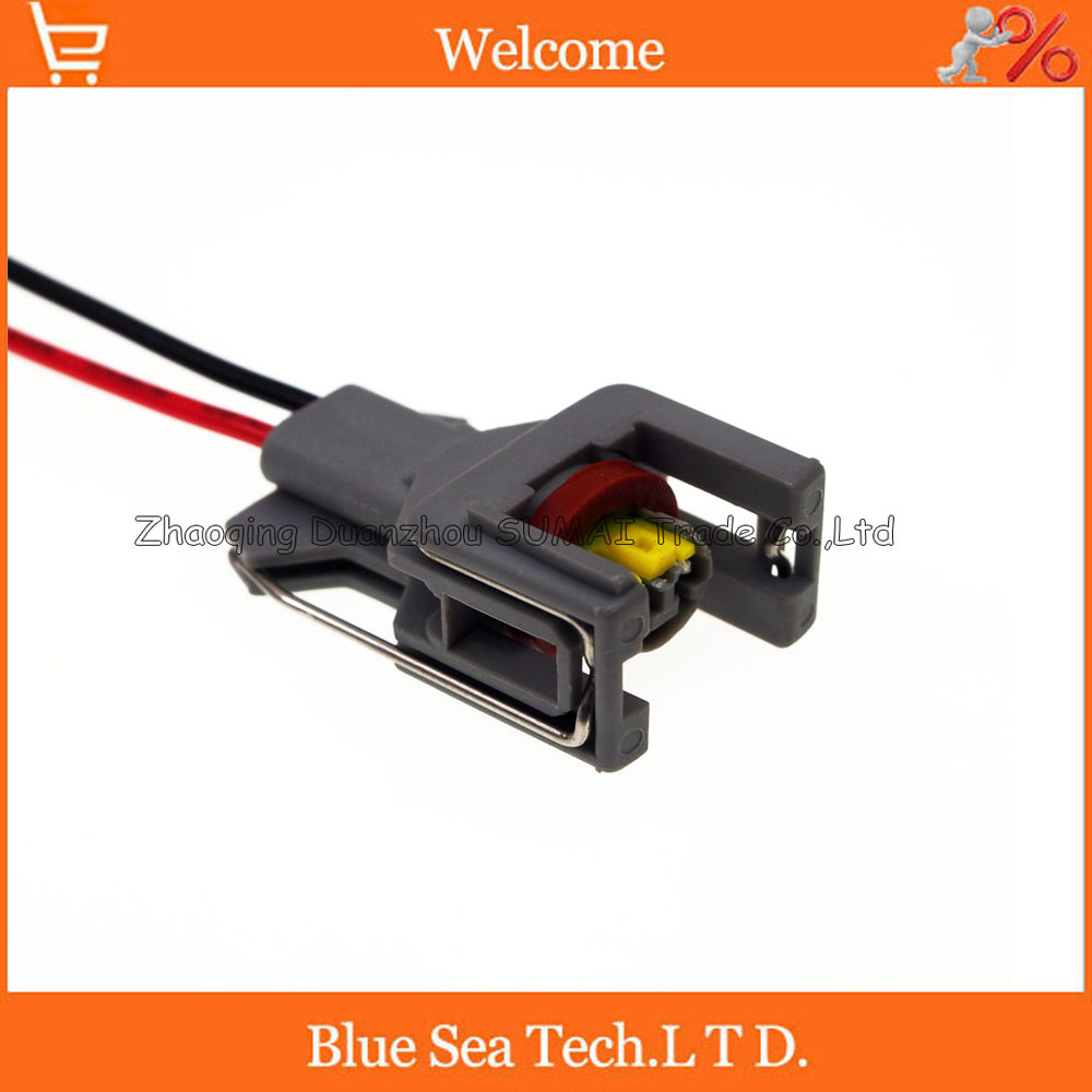 2Pin Auto fuel spray nozzle/oil atomizer plug with cable,Car Electrical plug for Delphi connector
