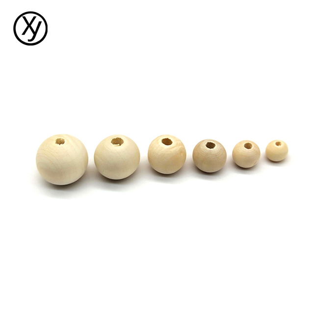 DIY 6/8/10/12/14/16/18mm Cheap Fashion Hot Beads Natural Round Loose Wood Beads for Jewelry Making Bracelet Necklace Accessories 5