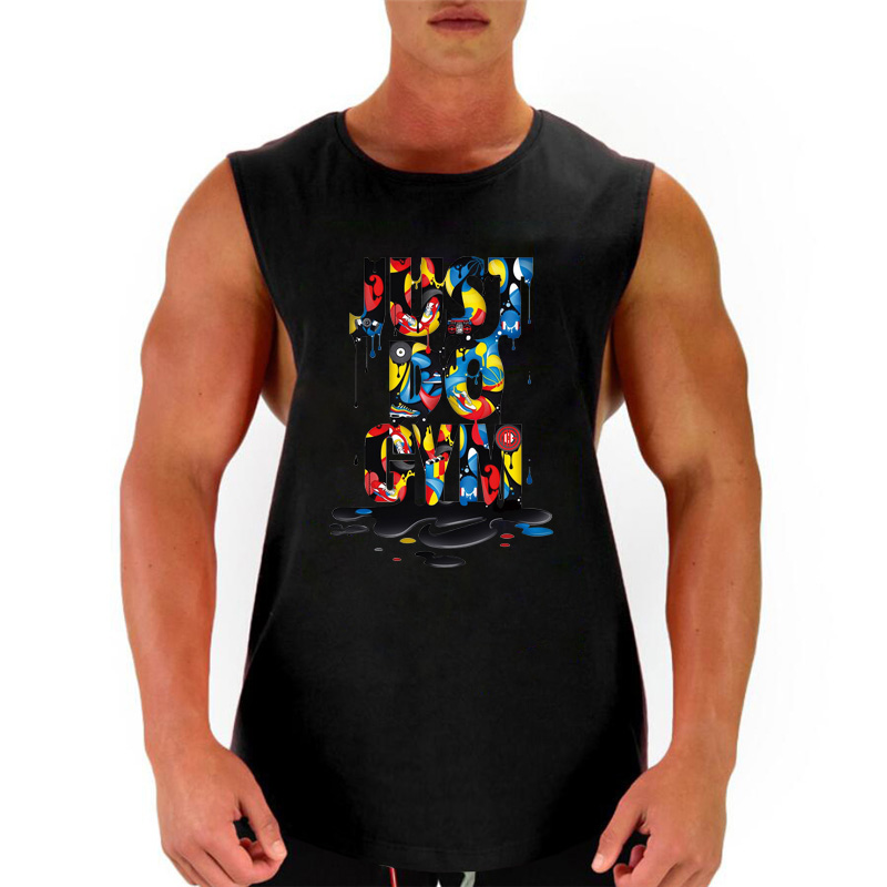 New 2018 Men Bodybuilding   Tank     Top   Workout Fitness Cotton Sleeveless Shirt Gyms Clothing Stringer Singlet Male Casual Vest