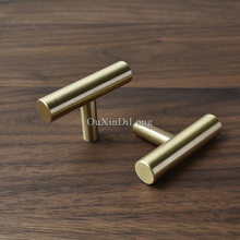10PCS High Quality European Solid Brass Cabinet Pulls Handles Kitchen Cupboard Wardrobe Drawer TV and Knobs