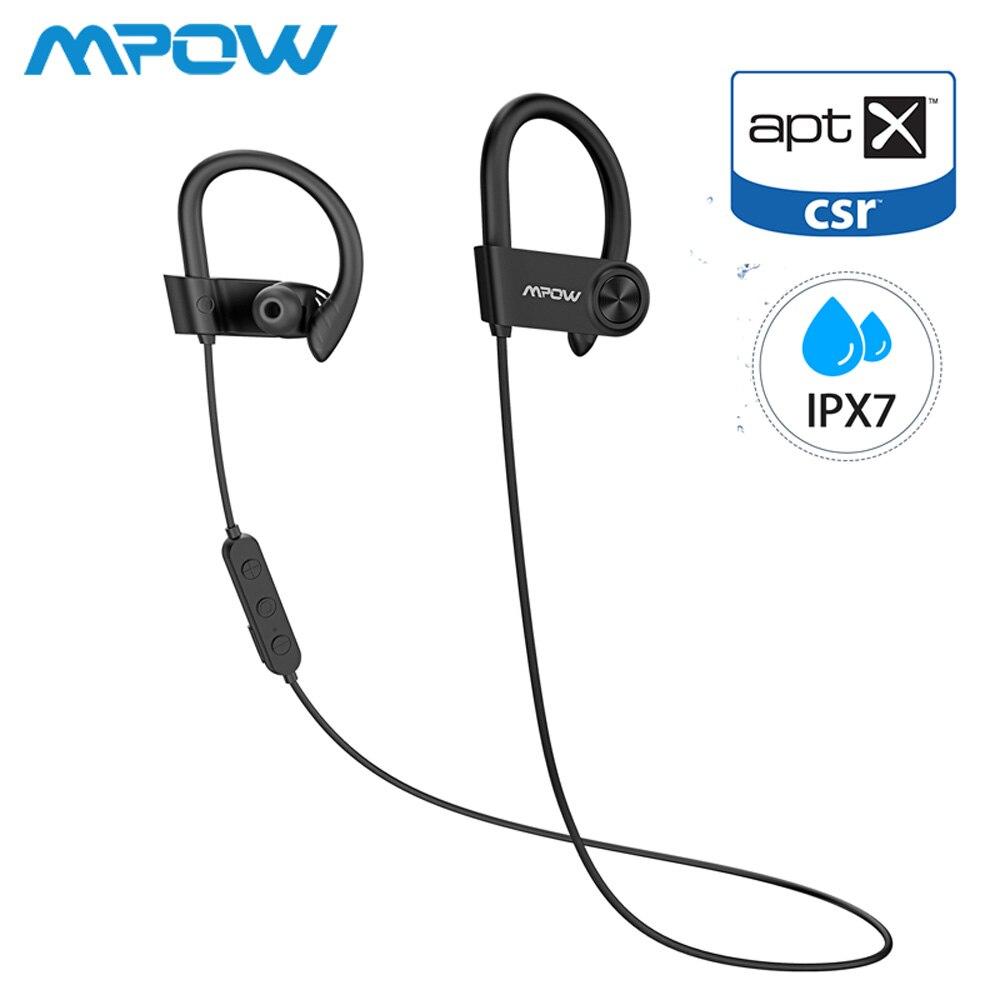 Mpow D9 16-18H Playtime ipx7 Bluetooth 5.0 fone de Ouvido Sem Fio do Fone de ouvido À Prova D' Água Esportes de Apoio APTX Para Android iPhone samsung