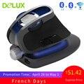 Delux m618x 2.4 ghz sem fio + bluetooth 3.0/4.0 multi-modo mouse ergonômico vertical ratos recarregável computador laser 6d mause