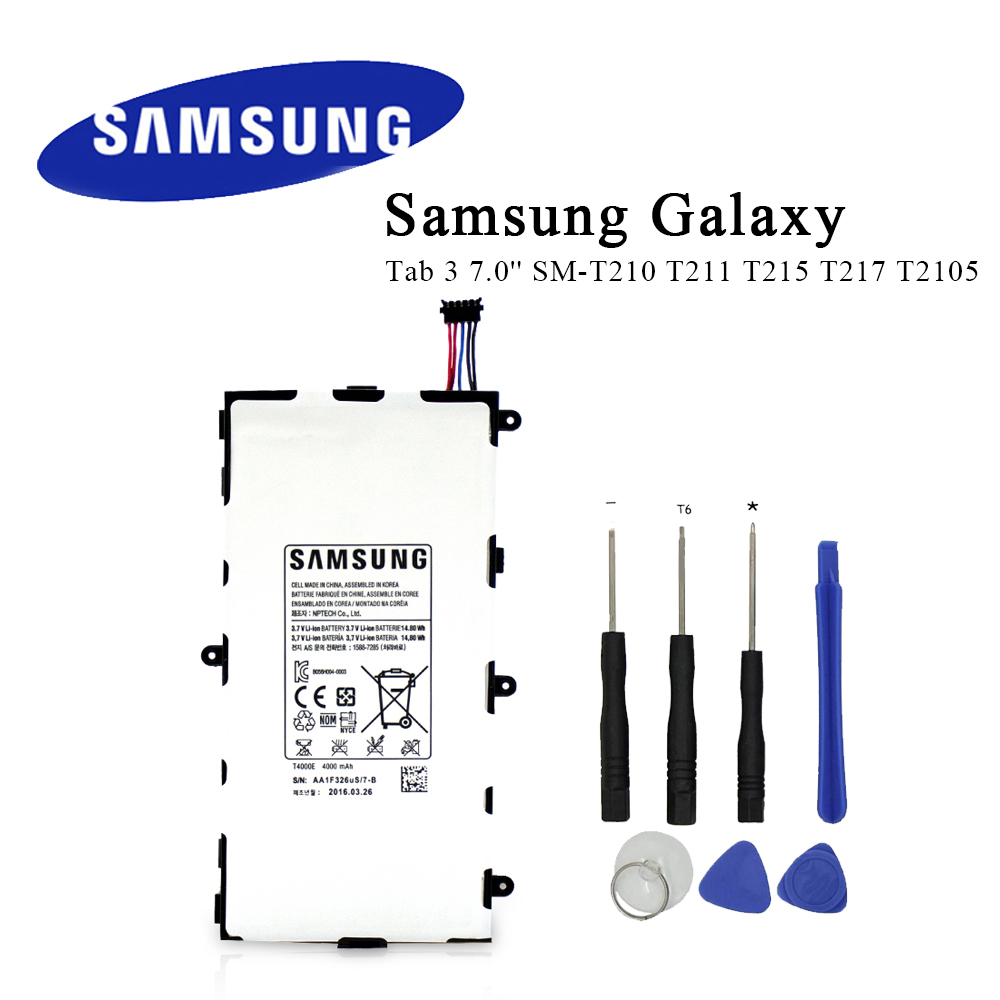 Tablet PC Battery <font><b>T4000E</b></font> For Samsung Galaxy Tab 3 7.0'' SM-T210 T211 T215 T217 T2105 Original Replacement Battery+Tools image