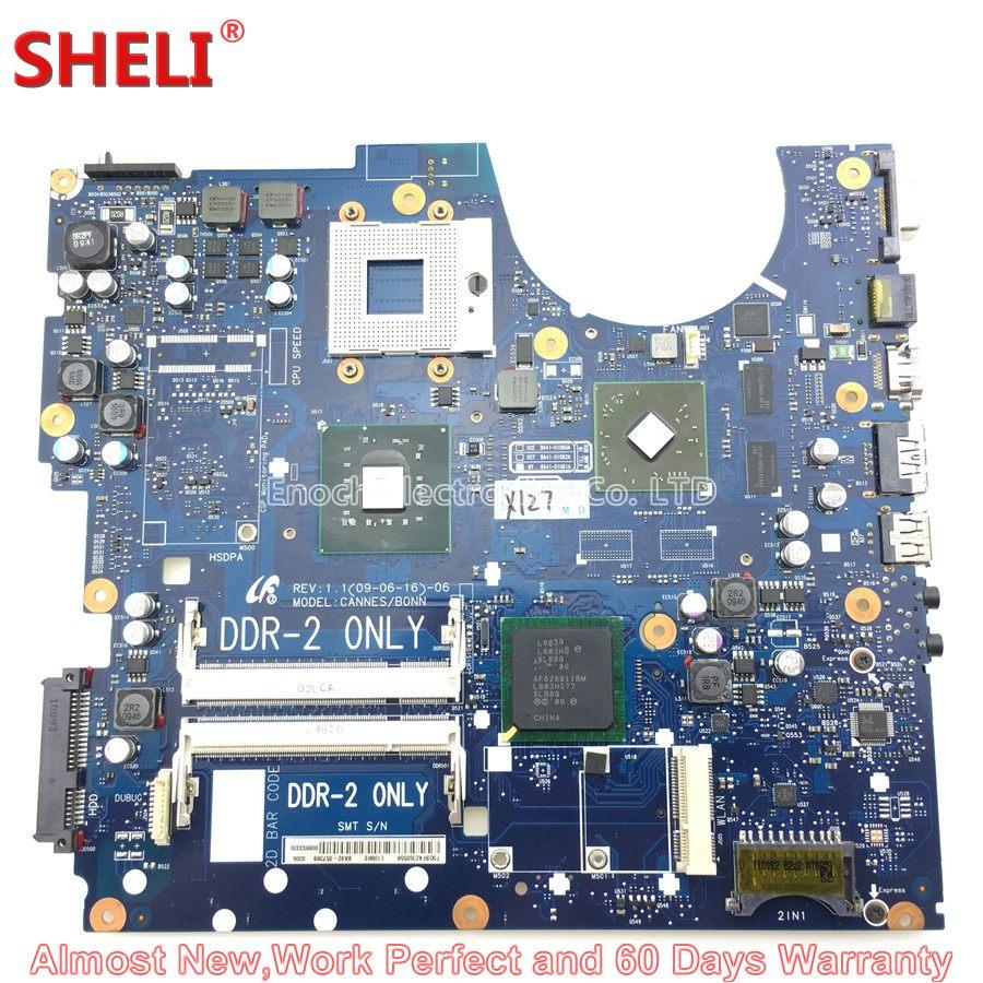 SHELI BA92-05738A BA92-05738B Laptop Motherboard For Samsung NP-R522 R522 CANNES/BONN BA41-01061A PM45 Main Board System Board 100% working laptop motherboard for samsung rv420 ba92 08731b series mainboard system board