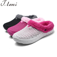 Tleni Winter Warm Walking Shoes Outdoor Female EVA Light Cotton Slippers Flats Comfortable Soft Students Anti-slip Shoes ZF-17