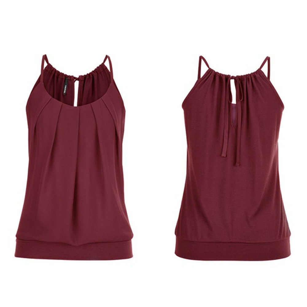 Plus Größe S-5XL Frauen Blusen Sexy Ärmel Camis O Neck Shirt Mode Sommer Damen Tanks Tops D190539