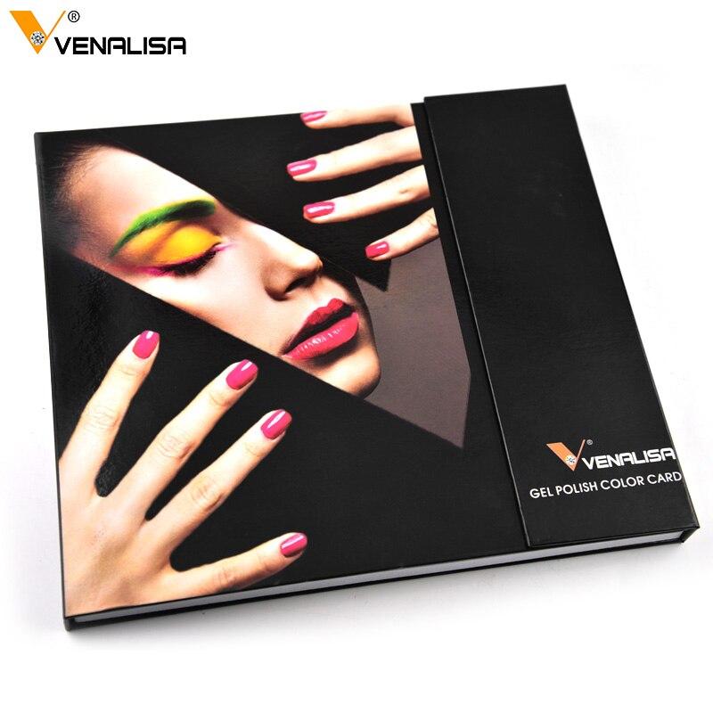 Venalisa 60 color Nail Art Acrylic False Practical Tips Display nail tip Manicure DIY Display Book for Gel Polish Lacquer Varnis стоимость