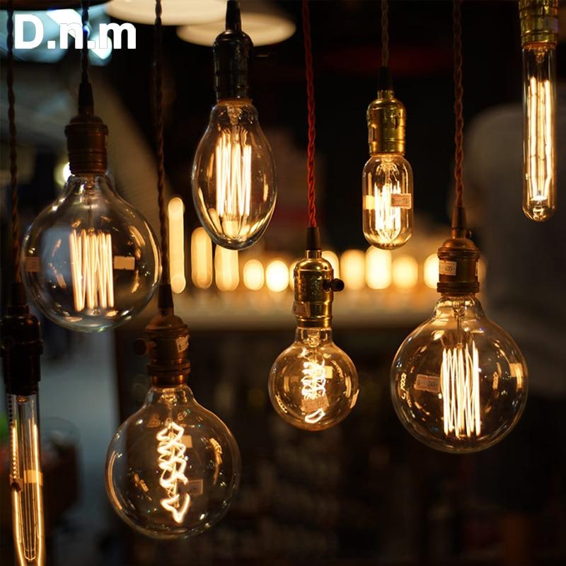 Edison Bulb lampada retro lamp E27 40W 220V ampoule vintage bulb edison lamp led filament light bulb For home industrial decor ampoule vintage e27 led edison light bulbs c75 40w filament led home lights retro incandescen lampe led bulb energy saving lamp