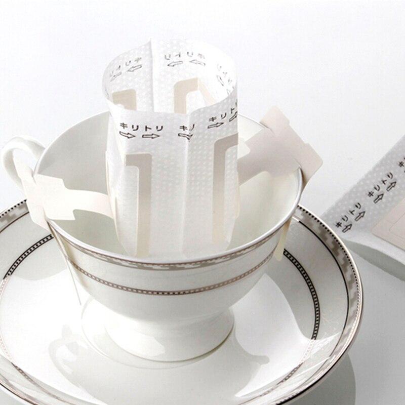 100 шт Кофе фильтры v60 Капельное сумка Бумага фильтр висит ухо Кофе Dripper чашки Портативный открытый фильтр Бумага для Кофе сумка