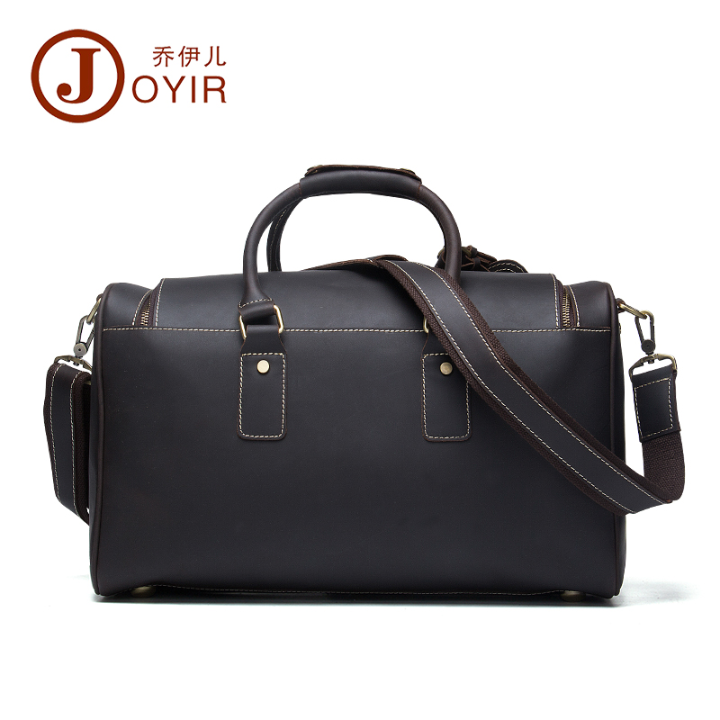 Crazy horse leather travelling bag male simple chocolate color tour bags fashion Genuine leather single shoulder Travel bag angel horse leather woman shoulder bag fashion genuine leather women shoulder cross bag leather leisure single shoulder bags