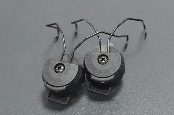 Military FMA Peltor Sordin Tactical Headset holder Accessories Fast Helmet Rail Adapter Set Black/TAN