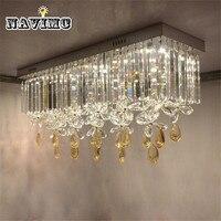 Simple Modern K9 Crystal LED Corridor Butterfly Ceiling Lamp Home Deco Cloak Room Balcony LED Bulb