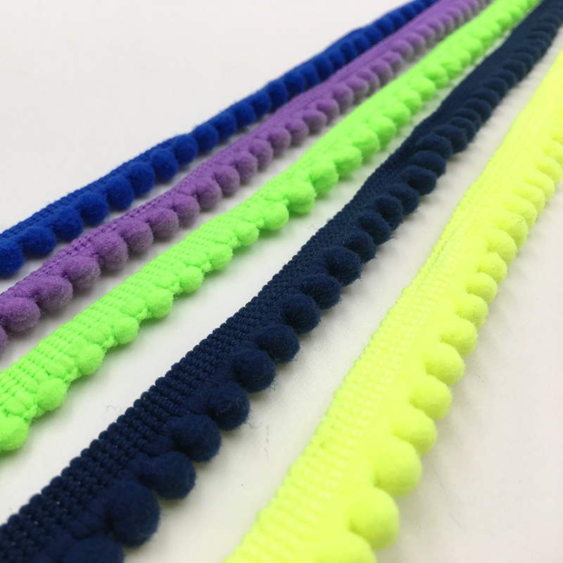 5 Yards Pom Pom Trim Ball 11 mm MINI Pearl Pompom Fringe Ribbon Sewing Lace Kintted 5 Yards Pom Pom Trim Ball 11 mm MINI Pearl Pompom Fringe Ribbon Sewing Lace Kintted Fabric Handmade Craft Accessories