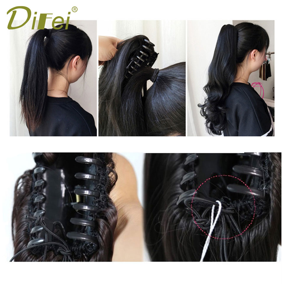 DIFEI Short Chignon High Temperature Fiber Hair Extension Chignon Extension Suitable For All Women