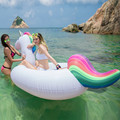 275cm Giant Swan Inflatable Flamingo Ride-On Pool Toy Float inflatable swan pool Swim Ring Holiday Water Fun Pool Toys DHL FREE