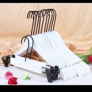 Cintres de vêtement en bois massif blanc | Magasin de vêtements d'hôtel, vêtements antidérapants suspendus sans plis, 10 pièces/lot
