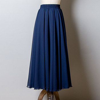 2019 Bohemia Long Skirts Women Stretch High Waist Solid Chiffon A-Line Skirt Casual Pleated Maxi Skirt Faldas Saias Streetwear 1