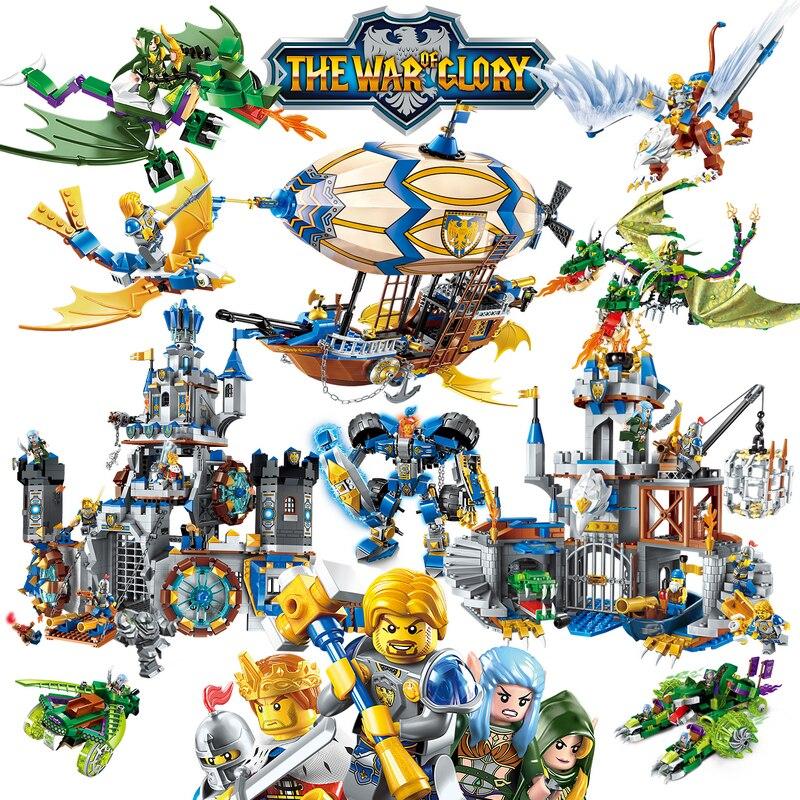 Erleuchten Herrlichkeit Krieg Pädagogische Bausteine Spielzeug Für Kinder Geschenke Castle Ritter Heros Waffe Elf Griffin Kompatibel Legoe