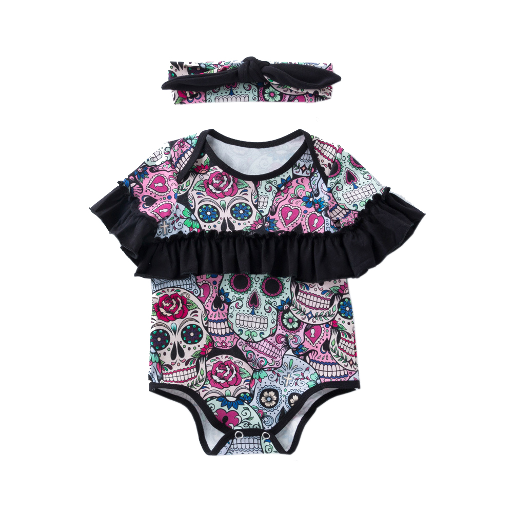 Newborn Toddler Baby Girls Bodysuit Halloween Custome Jumpsuit Outfit Clothes Roupa Infantil Short Sleeve Cotton Clothing