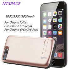 For iPhone X/Xs Portable Battery Charger Case 6/6S/7/8 Power Bank Pack 6s/7/8 Plus