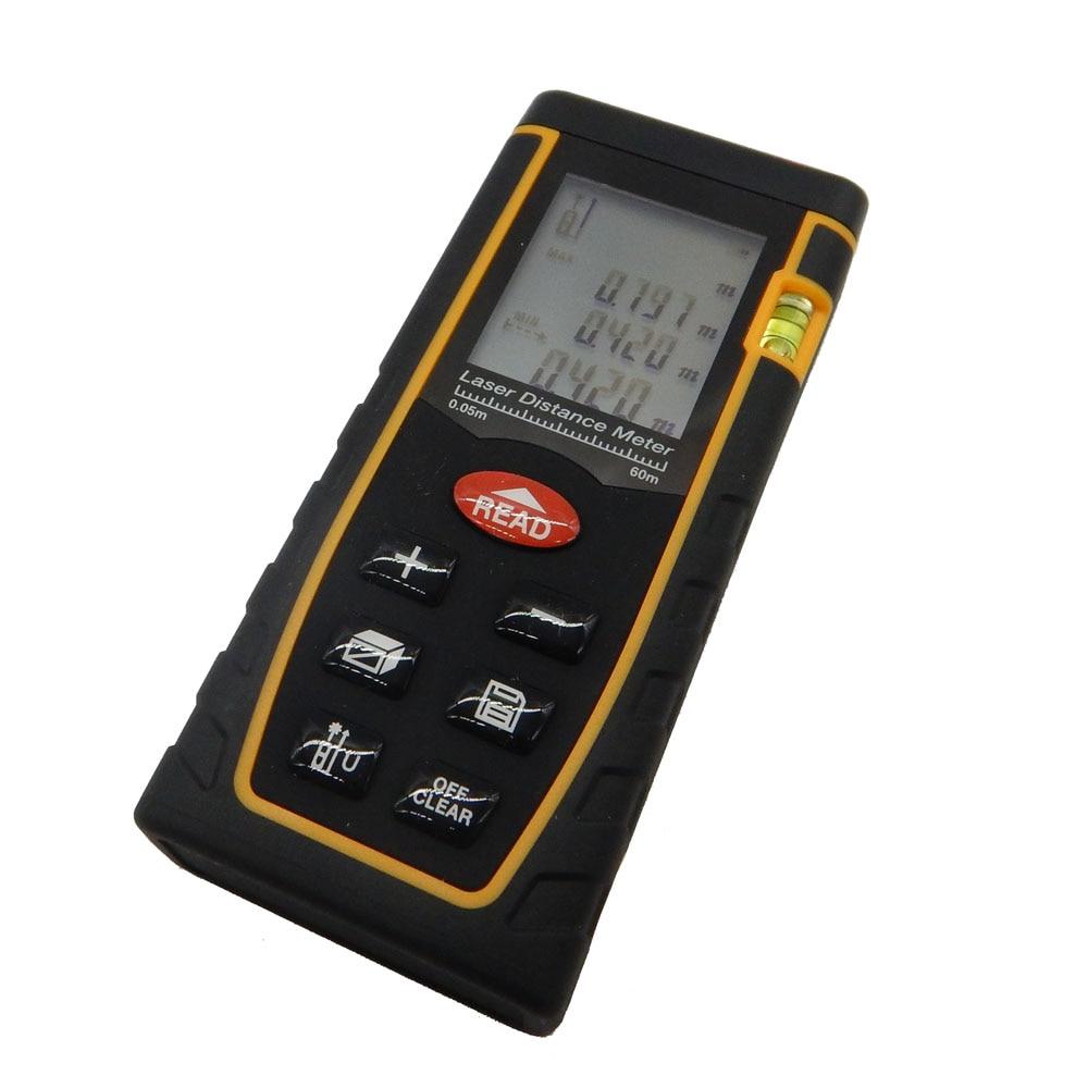 ФОТО Digital laser rangefinder RZ60 197ft distance meter range finder Area-volume-Angle Tester tool New hot Home decoration Genuine