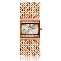 2016 New Hot Sell Women Bracelet Watches Fashion Lady Gift Rose Gold Rhinestone Designer Top Luxury