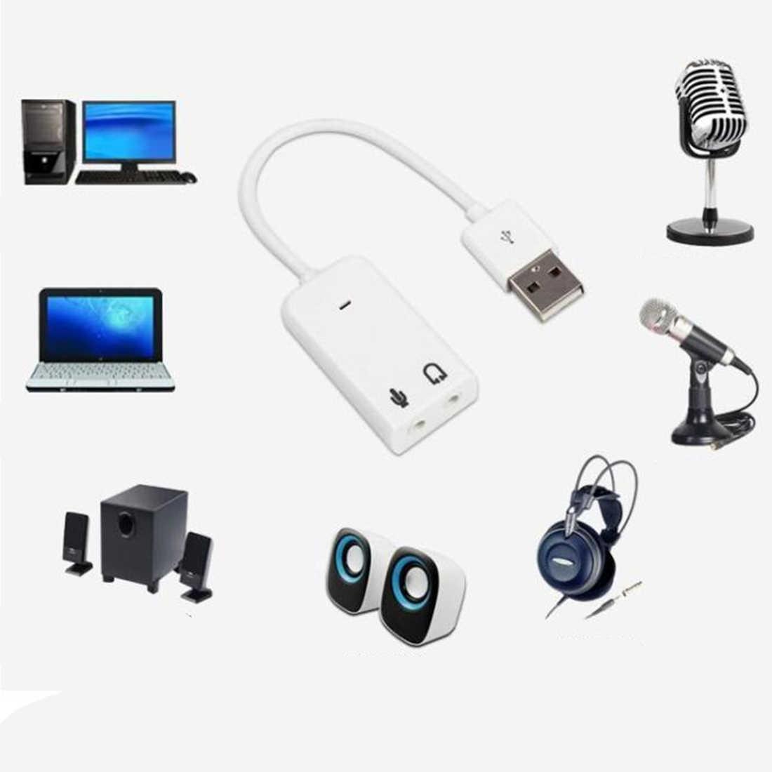 新しい Sienoc USB 2.0 仮想 7.1 チャンネル Xear 3D 外部 Usb サウンドカードオーディオ Windows 用 XP 勝利 7 8 Linux Vista Mac OS