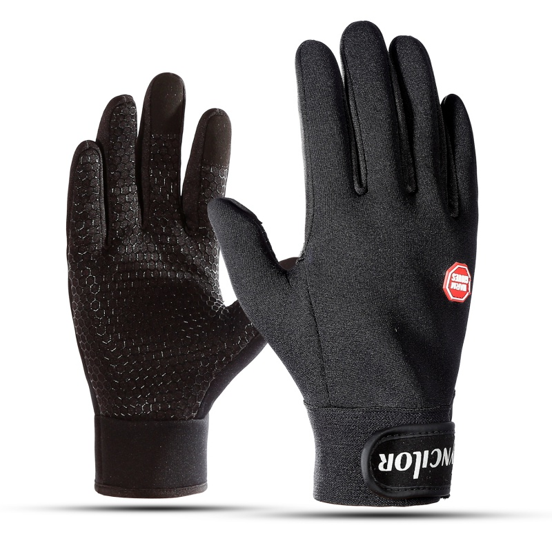 Adjustable Touch Screen Outdoor Sports Windproof Ski Gloves Blue Riding Gloves Motorcycle Glove Cycling Glove Mens Women