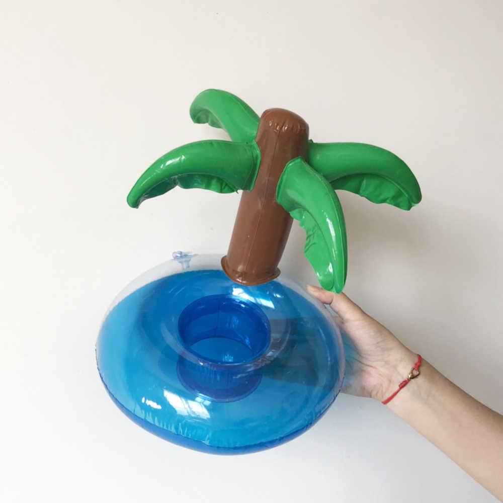 Mini Cherry Kokospalm Vorm Opblaasbare seasid Zwembad Drinken Cup Stand Houder Float Speelgoed Onderzetters Voor Drank Bier Bot
