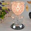 Indução toque crystal rose fragrância lâmpada a óleo lâmpada aromaterapia yoga salões de beleza eletrônico fogão incenso plugue da máquina