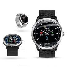2019n58 high end ecg ppg relógio inteligente com eletrocardiograph ecg display holter ecg monitor de freqüência cardíaca pressão arterial smartwatch