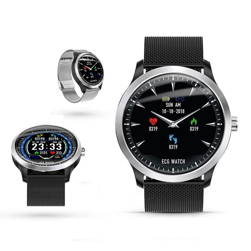 3D ЭКГ часы ЭКГ дисплей умные часы PPG мульти-спорт фитнес-трекер smartwatch цветной пульсометр кровяное давление часы