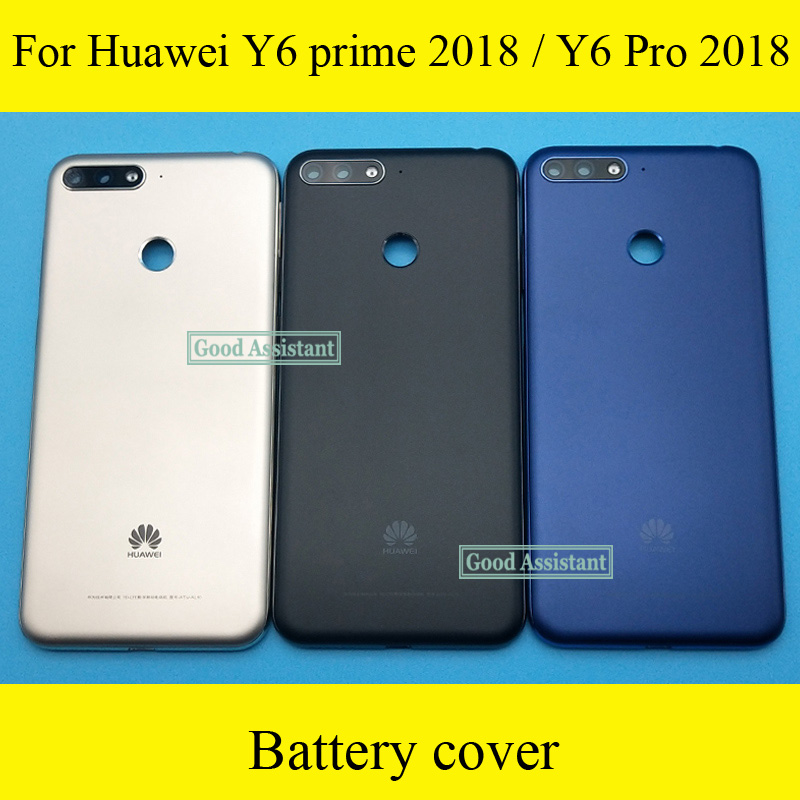 Cover Huawei Door-Housing-Case Glass-Parts Back-Battery for Y6 Prime Y6/pro Rear