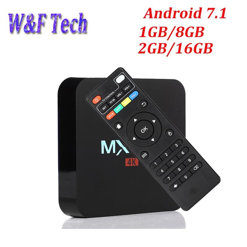 MX PRO Amlogic S905W Quad Core Android 7 1 1GB RAM 8GB ROM Android TV Box