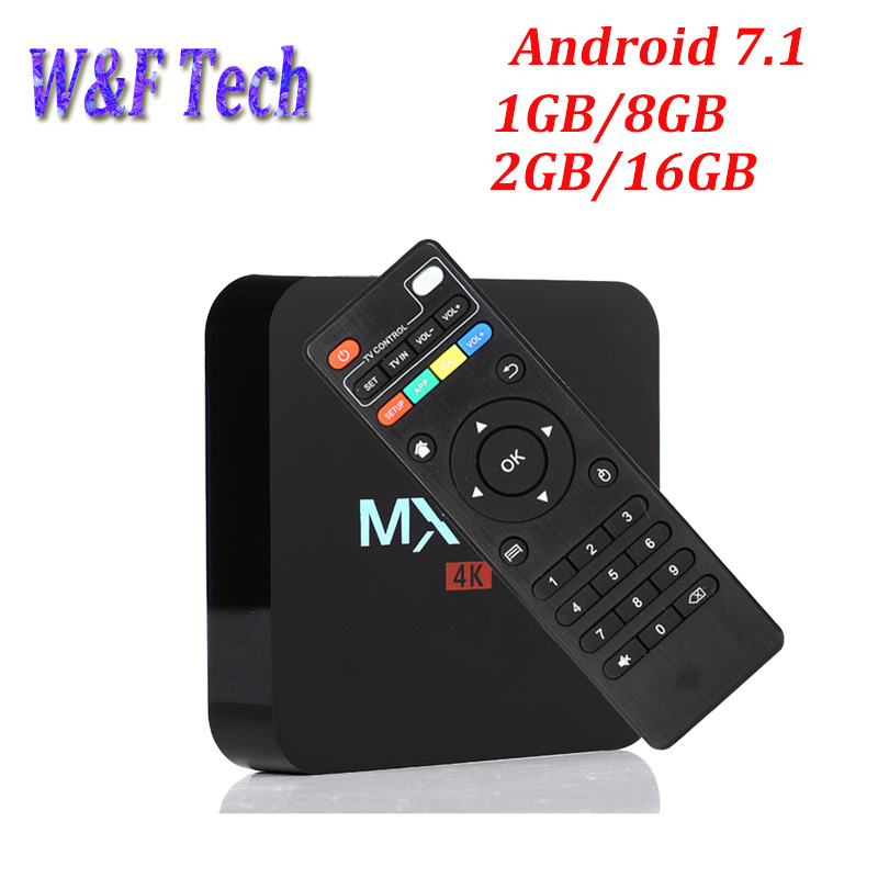 MX PRO Amlogic S905W Quad Core Android 7.1 1GB RAM 8GB ROM Android TV Box 2.4G WIFI 4K Smart Media Player PK X96 MINI 2G 16G beelink mini mx ver 1 0 tv box android 5 1 2g 16g amlogic s905