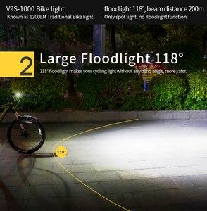 Image 4 - Phare de vélo de vélo GACIRON étanche 1000 Lumens vtt vélo Flash lumière avant torche LED chargeur portatif léger accessoires de vélo