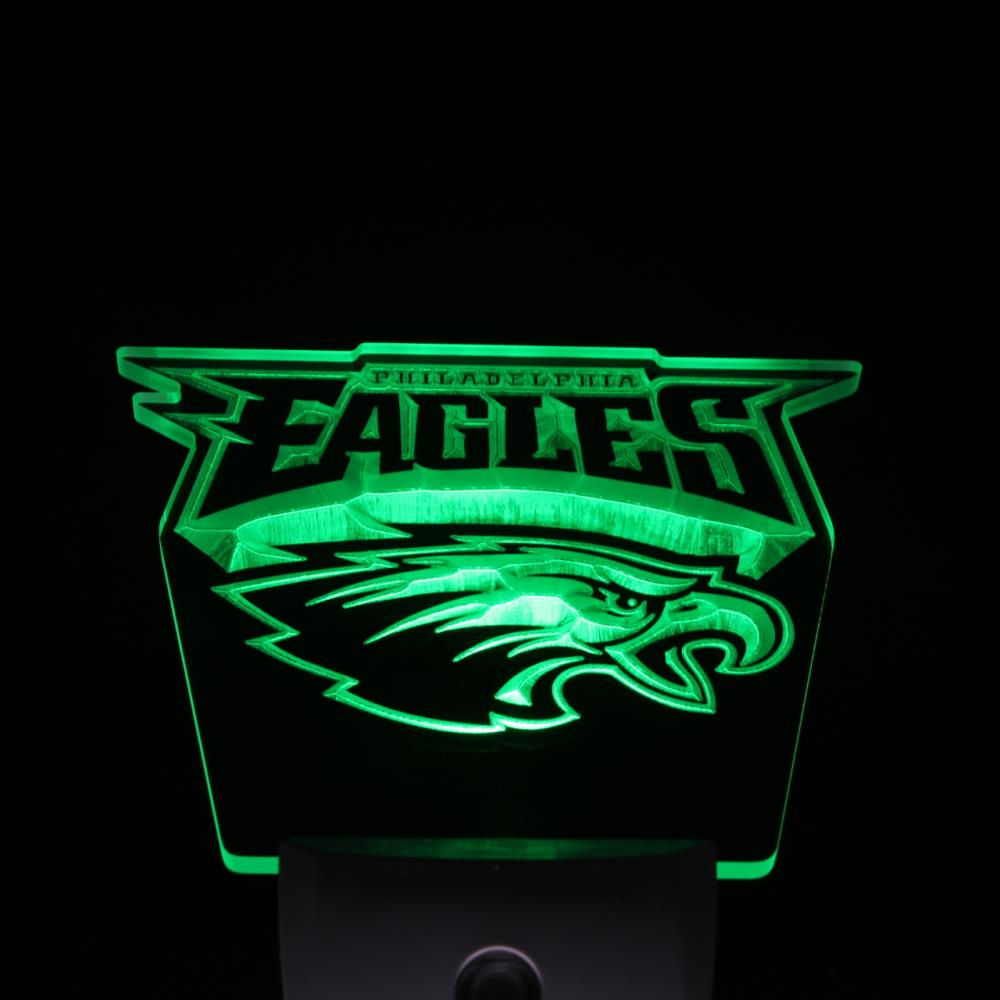 Ws0052 Eagles de Philadelphie Football Jour/Nuit Capteur Led Night Light Enregistrez-vous