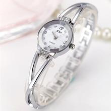 цена на 2017 Luxury Brand JW Gold Watches Women Stainless Steel Bracelet Quartz Watch Ladies Fashion Casual Rhinestone Wristwatches