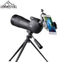 20 60x Зрительная труба с штативом для наблюдения за птицами зум телескоп охотничий Монокуляр водонепроницаемый азотный телефон адаптер